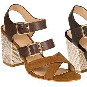 Andrew Stevens Yesenia Leather City Sandal 6.5